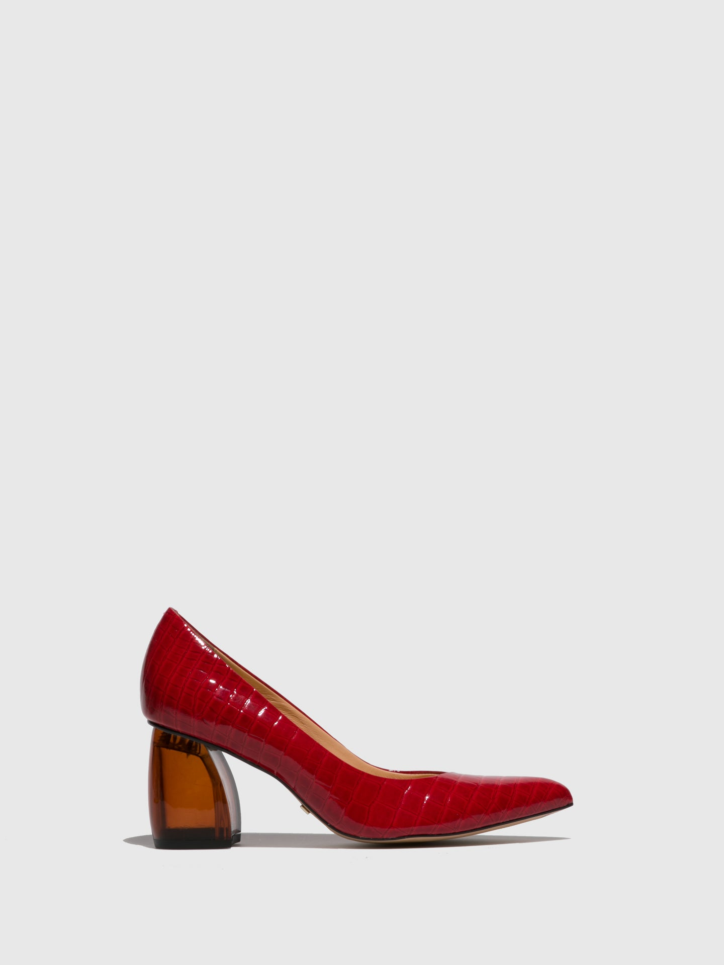 Parodi Passion Red Chunky Heel Shoes