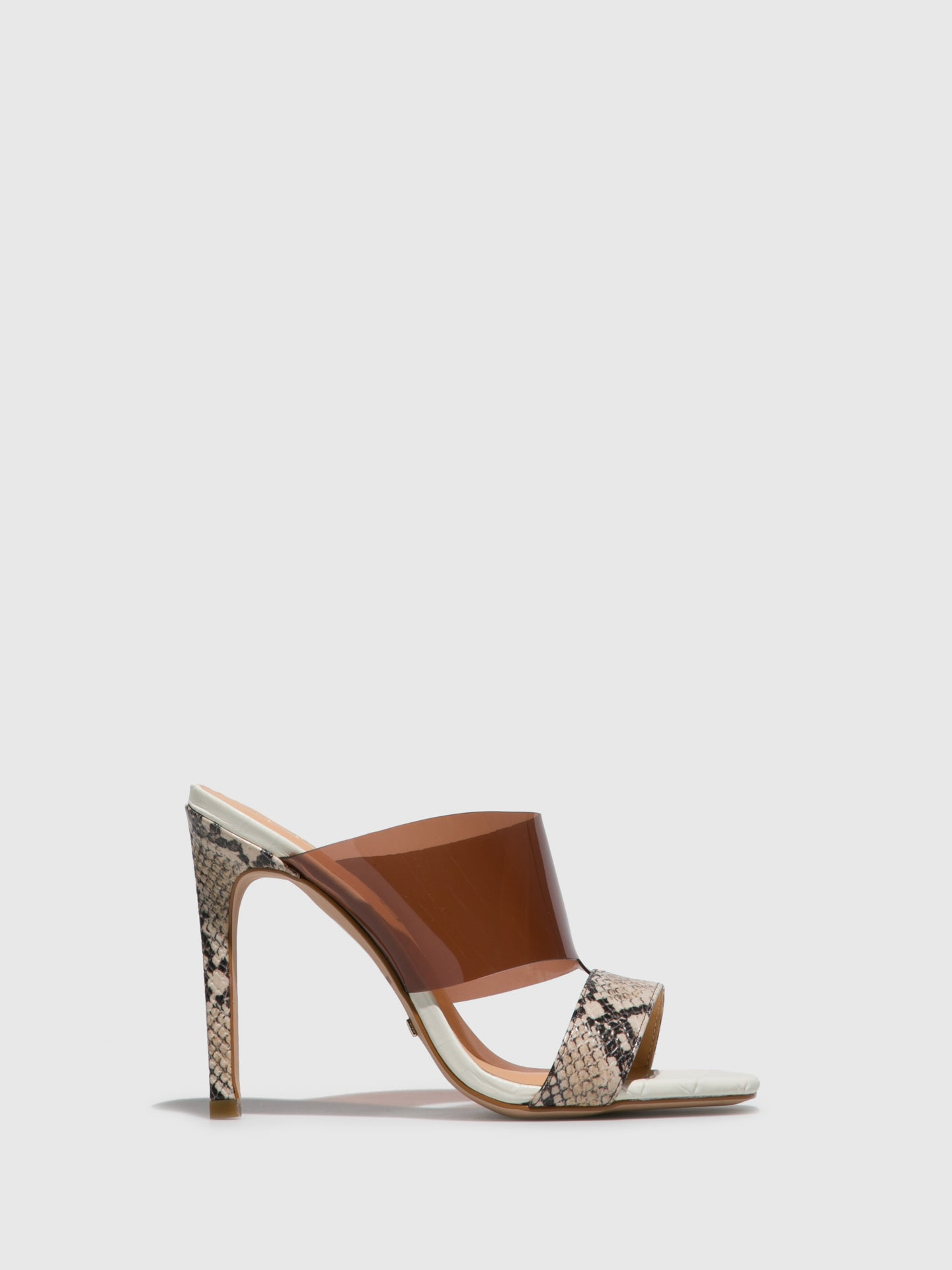 Parodi Passion White Open Toe Mules