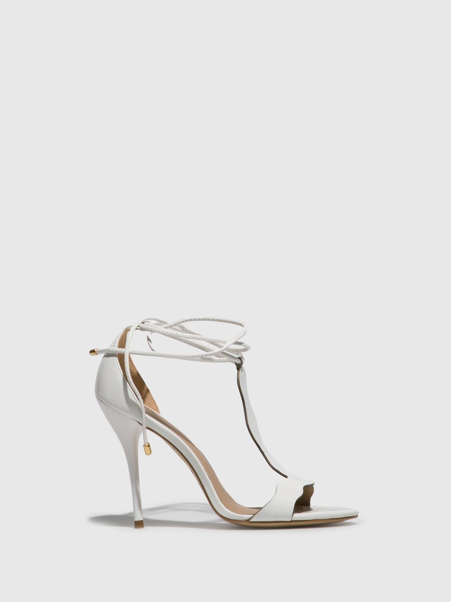 Parodi Passion White Ankle Strap Sandals