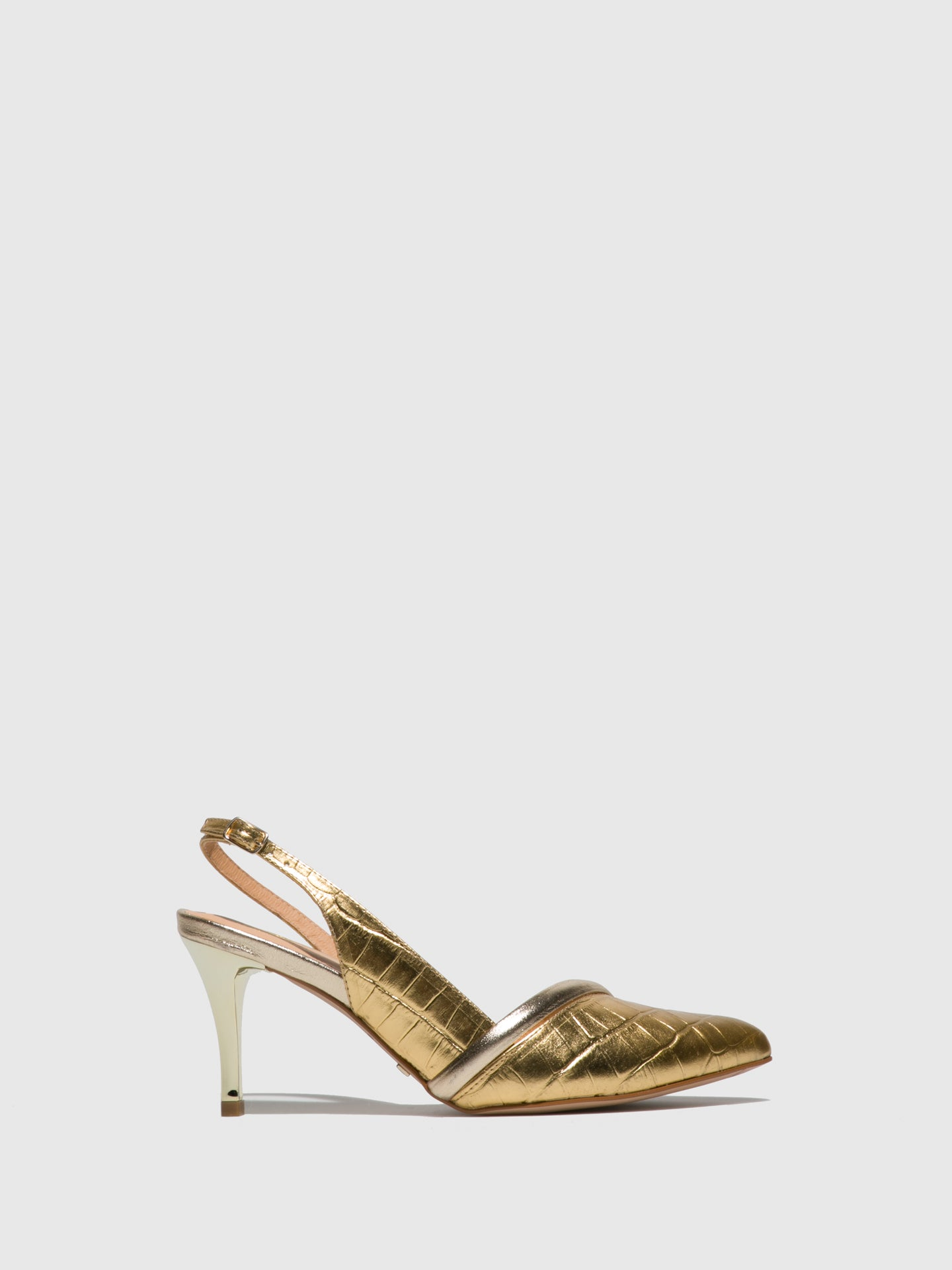 Parodi Passion Gold Sling-Back Sandals