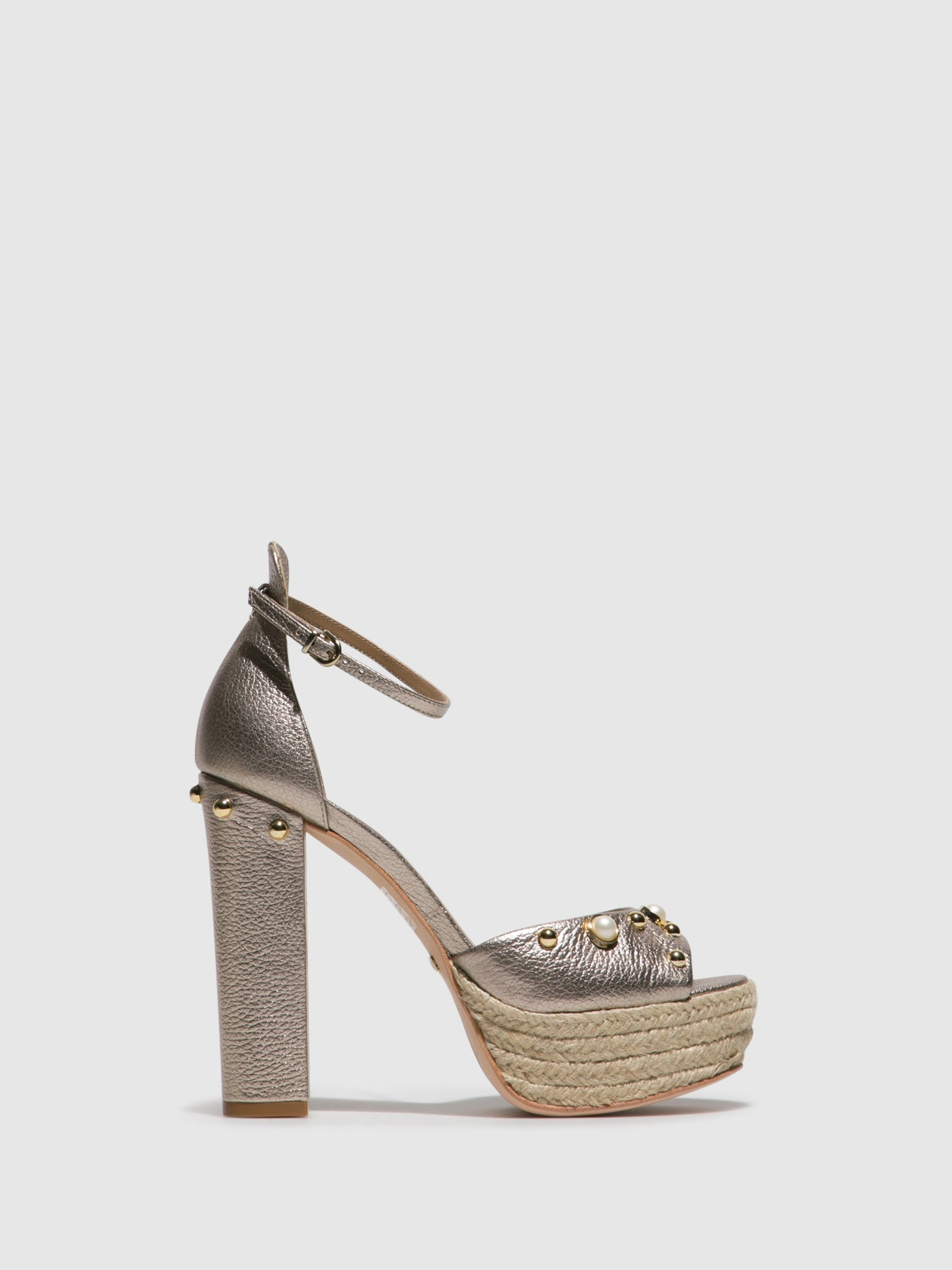 Parodi Passion Gold Platform Sandals