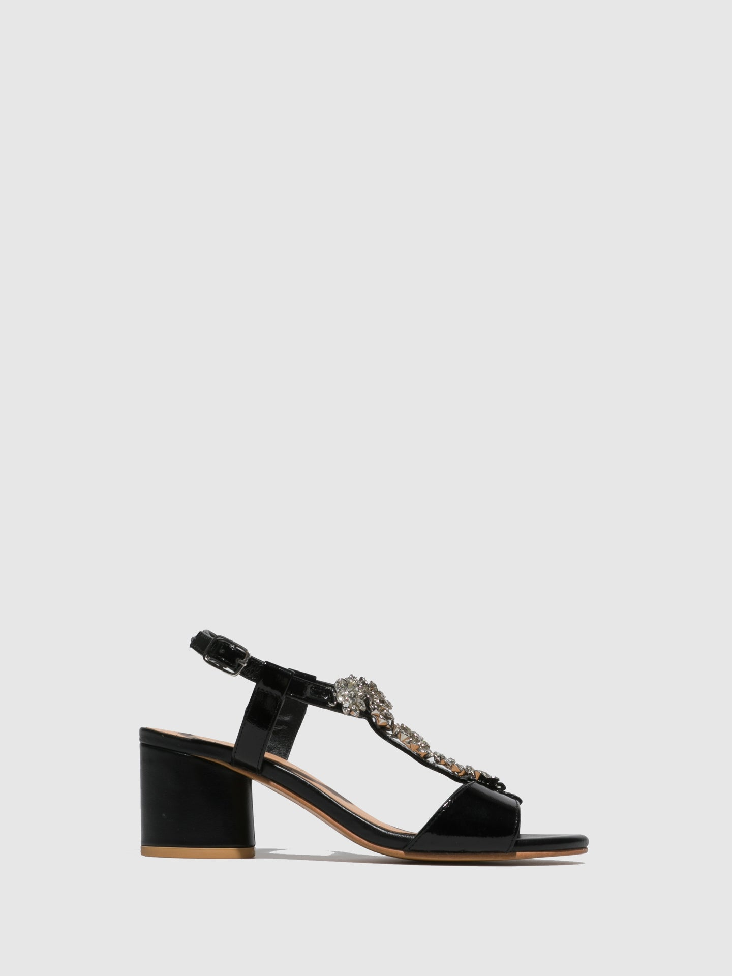 Parodi Sunshine Black Appliqués Sandals