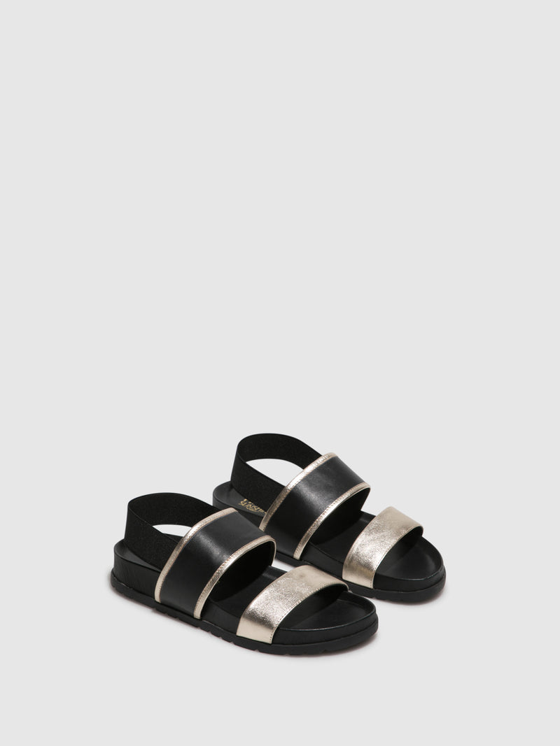 Parodi Sunshine Black Platform Sandals