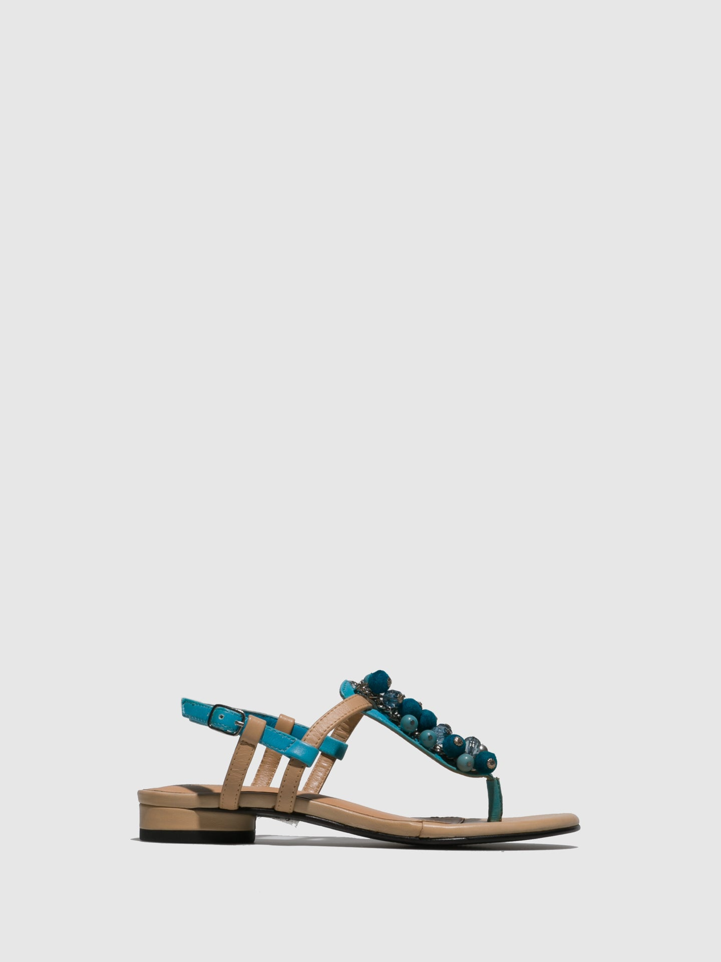 Parodi Sunshine SkyBlue Appliqués Sandals