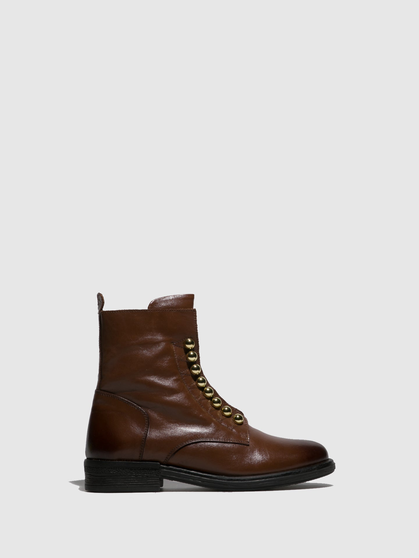 Parodi Sunshine Brown Round Toe Ankle Boots