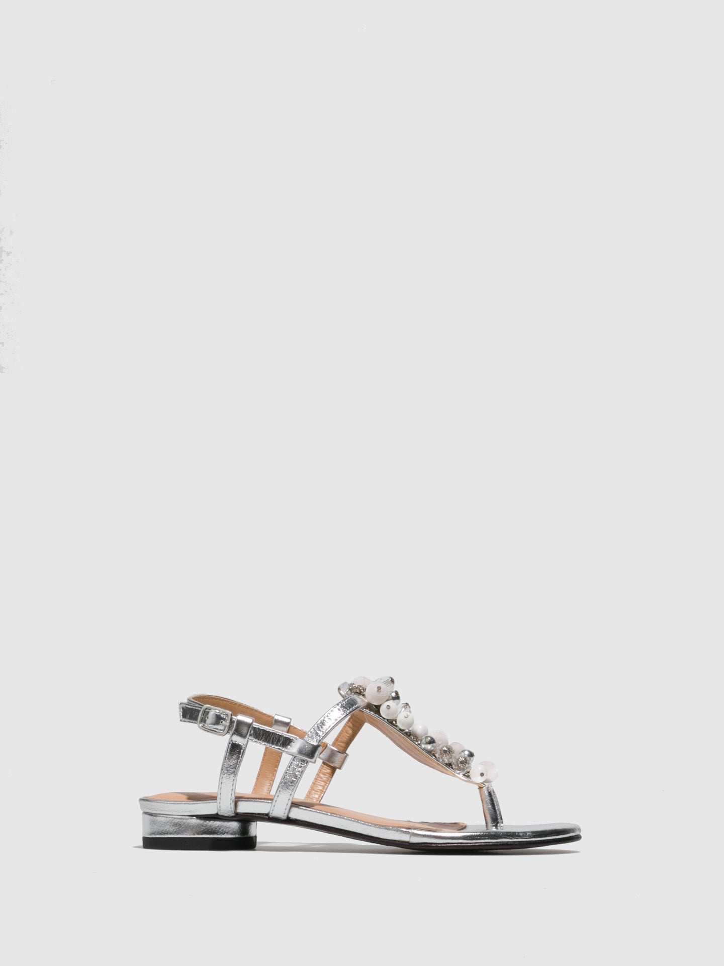 Parodi Sunshine Silver Appliqués Sandals