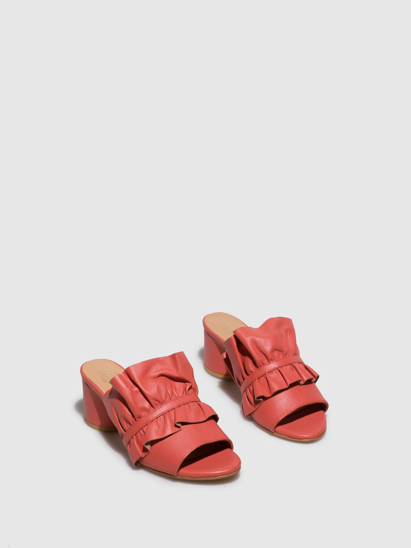 Coral Open Toe Mules