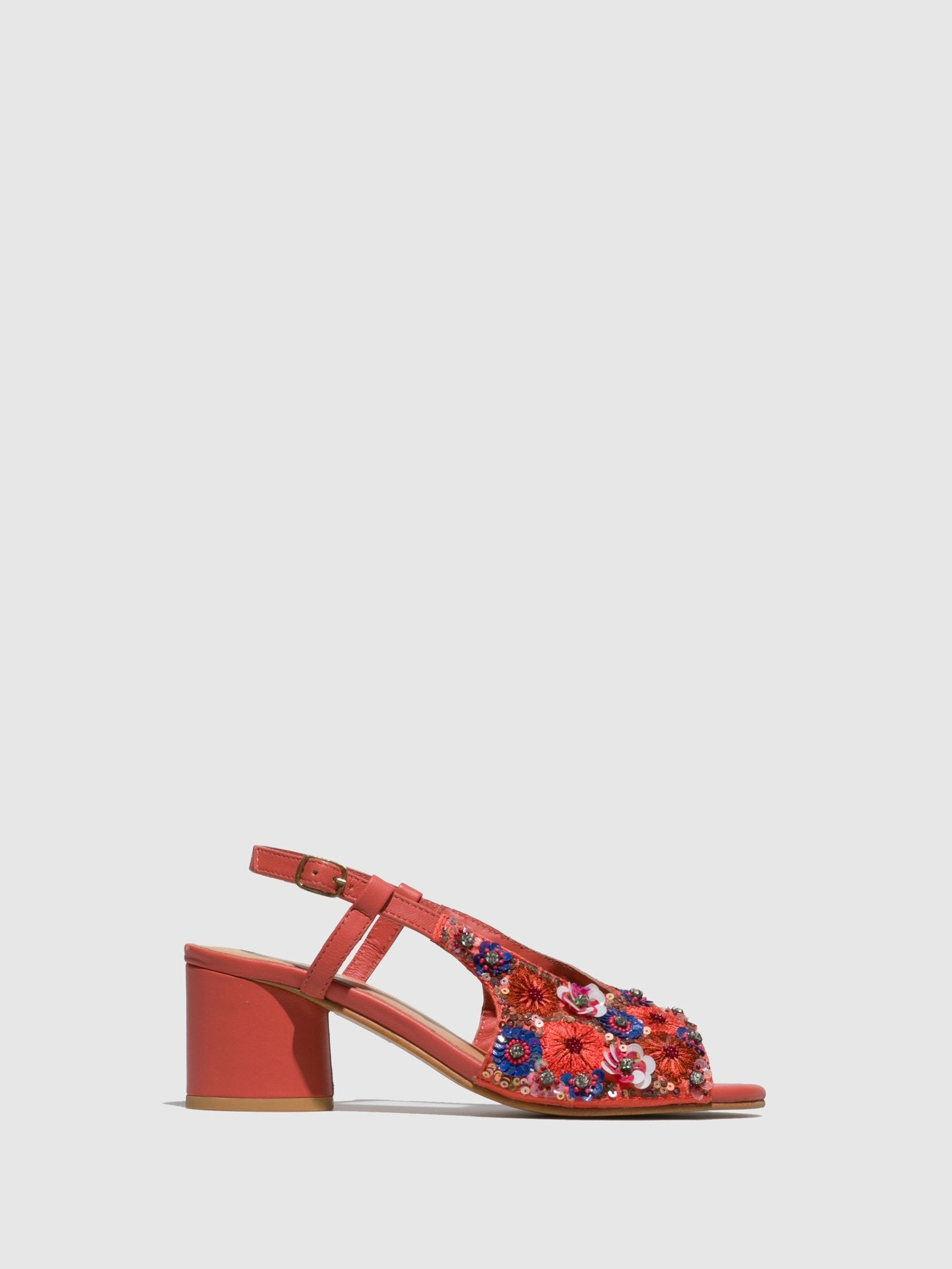 Parodi Sunshine Coral Sling-Back Sandals