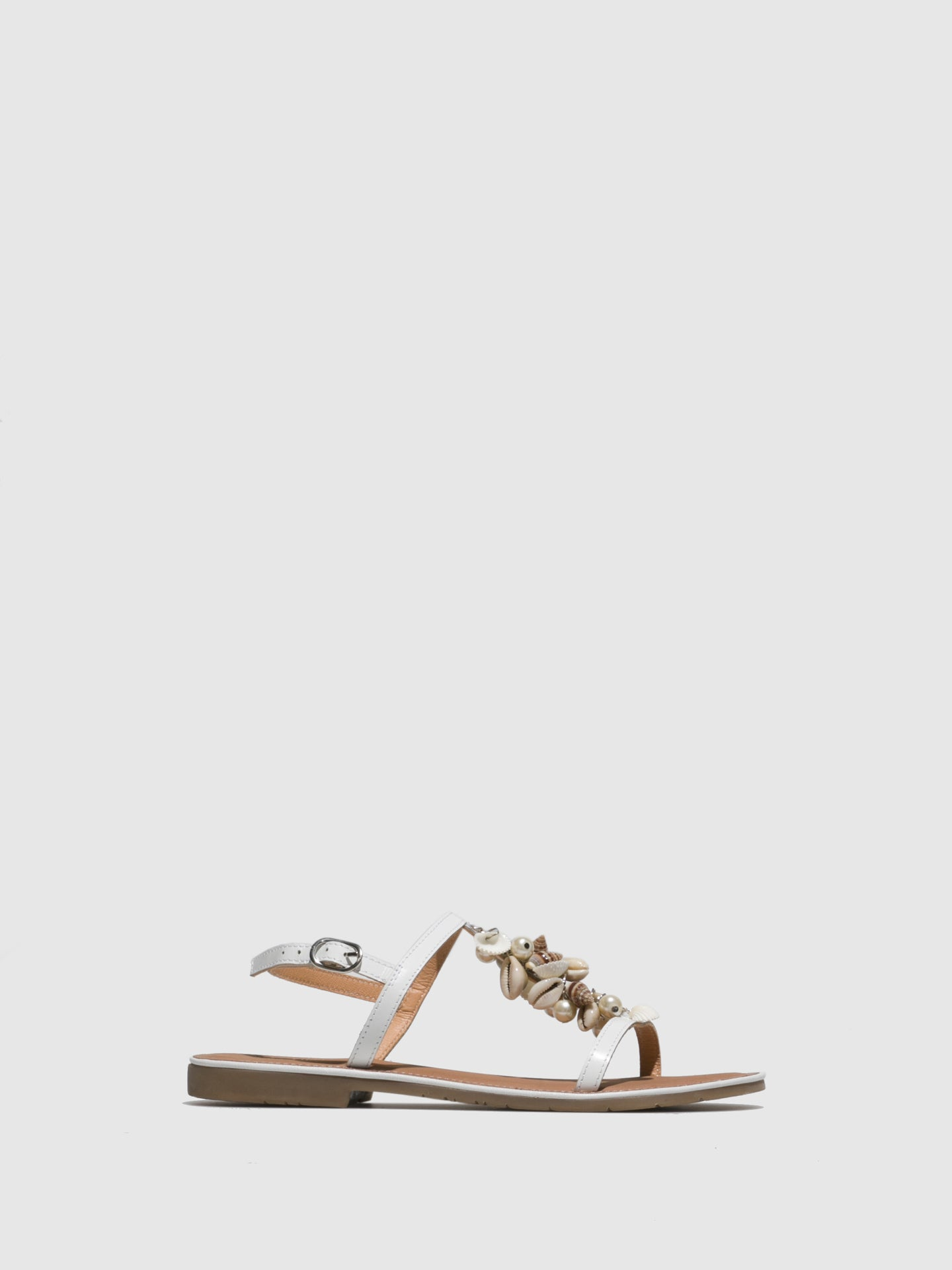 Parodi Sunshine White Appliqués Sandals