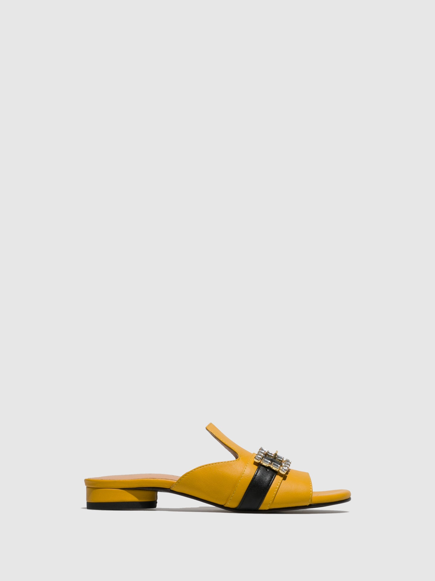 Parodi Sunshine Yellow Open Toe Mules