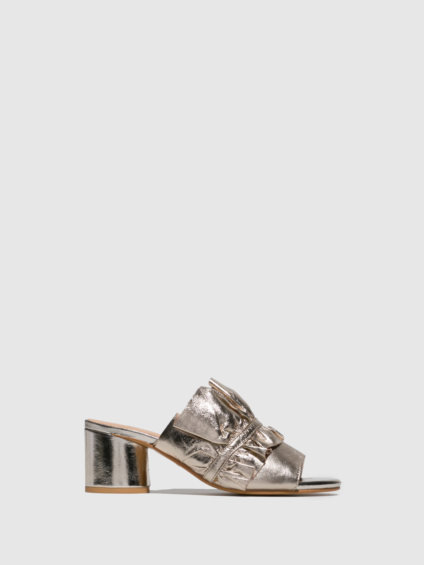 Parodi Sunshine Gold Open Toe Mules
