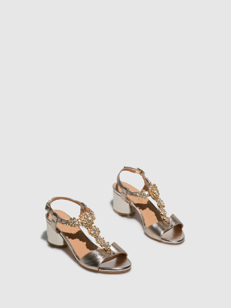 Parodi Sunshine Gold Appliqués Sandals