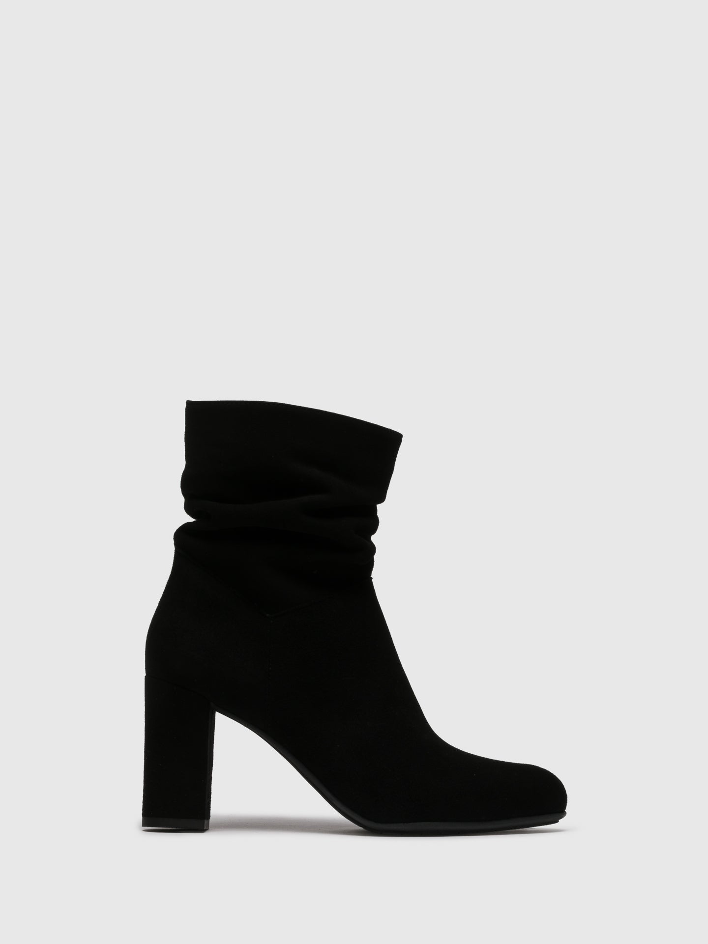 Perlato Black Zip Up Ankle Boots