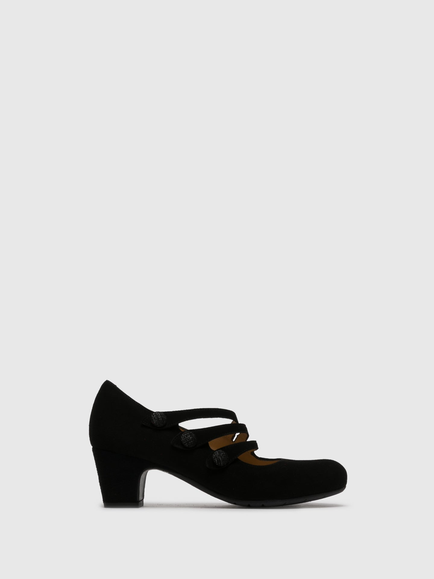 Perlato Black Round Toe Shoes