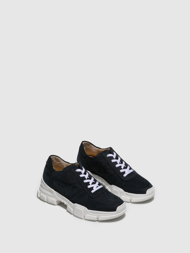 Perlato Blue Lace-up Trainers