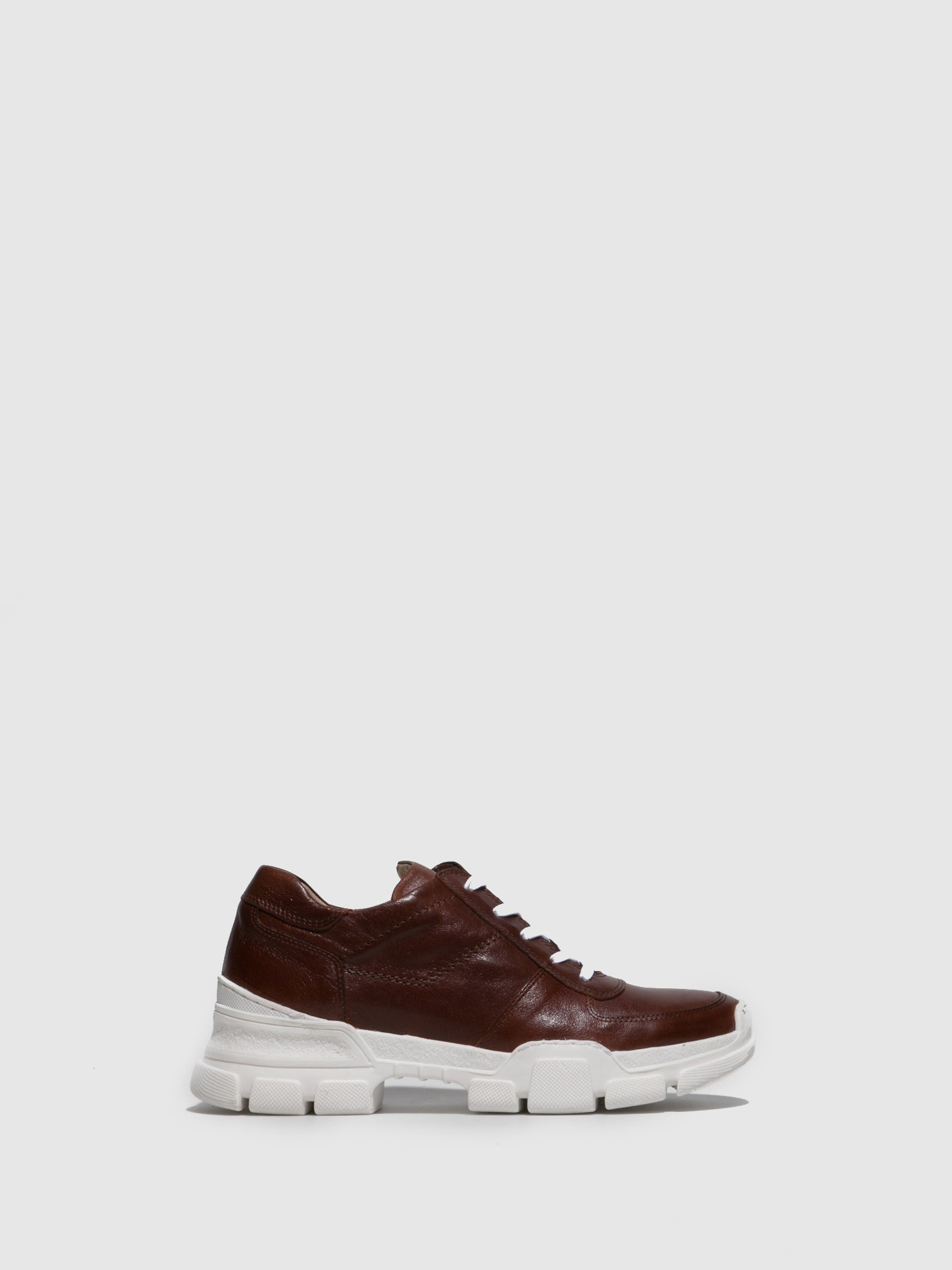 Perlato Cognac Lace-up Trainers