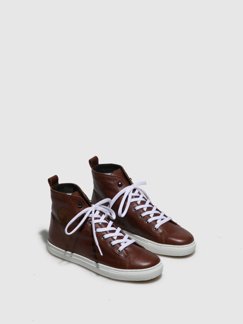 Cognac Lace-up Trainers