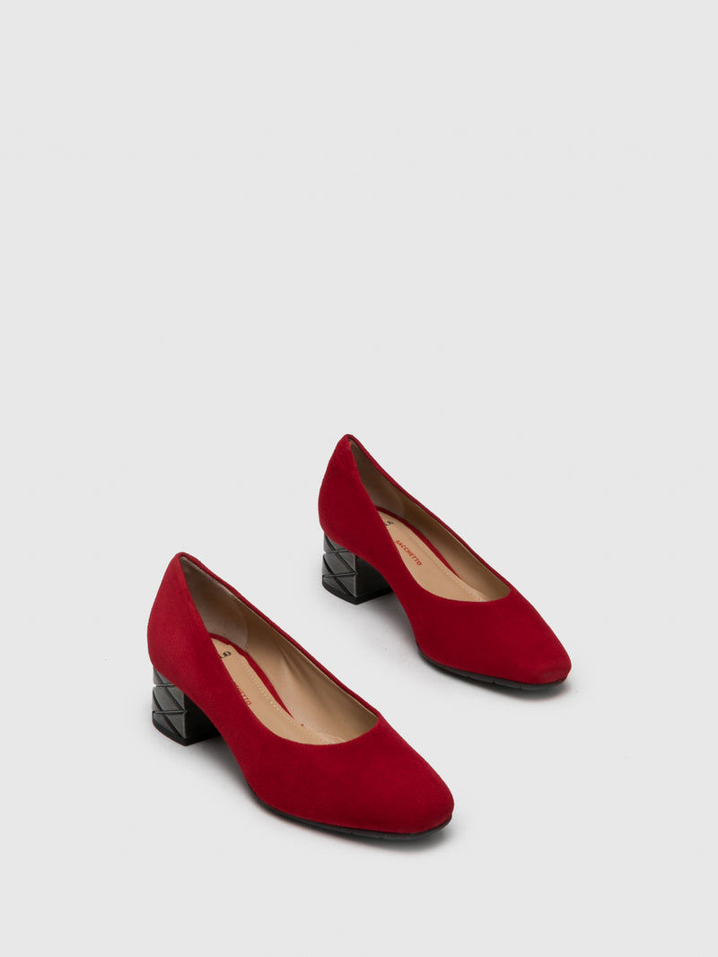 Red Square Toe Shoes