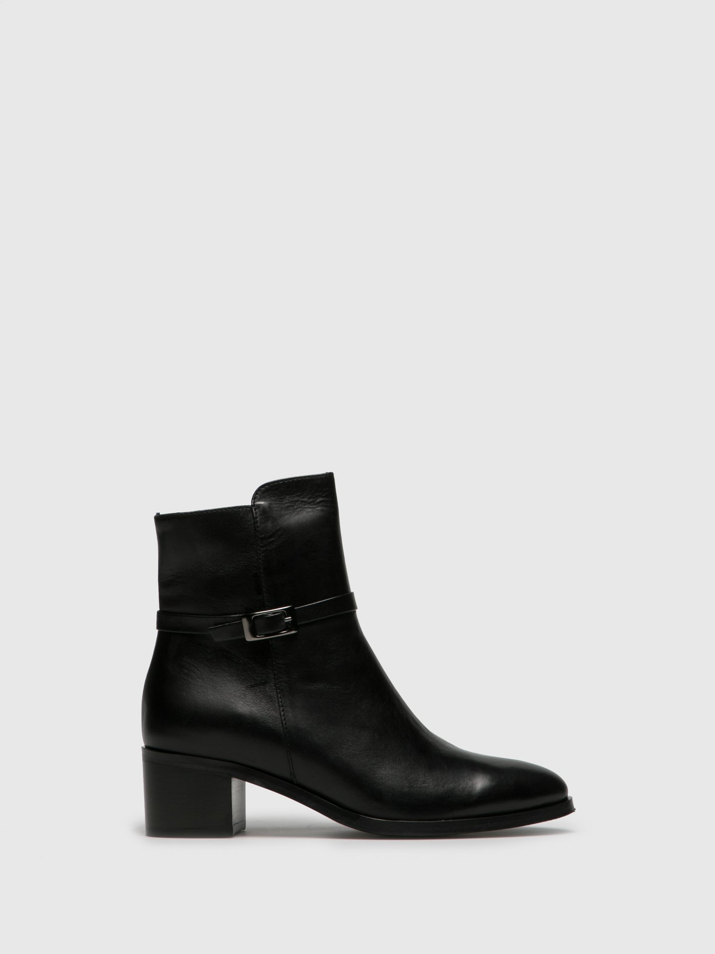 PintoDiBlu Black Leather Zip Up Ankle Boots