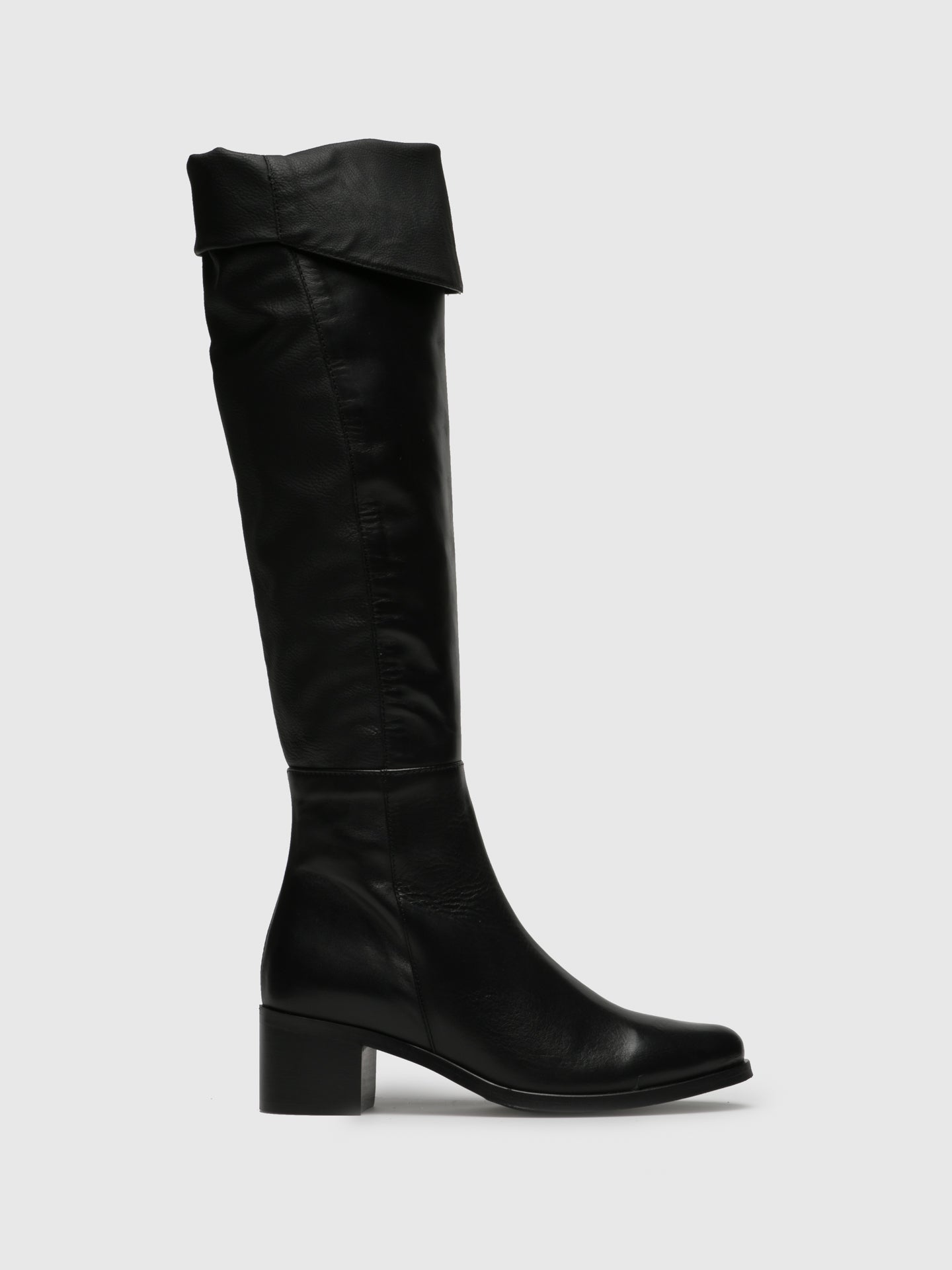 PintoDiBlu Black Leather Over the Knee