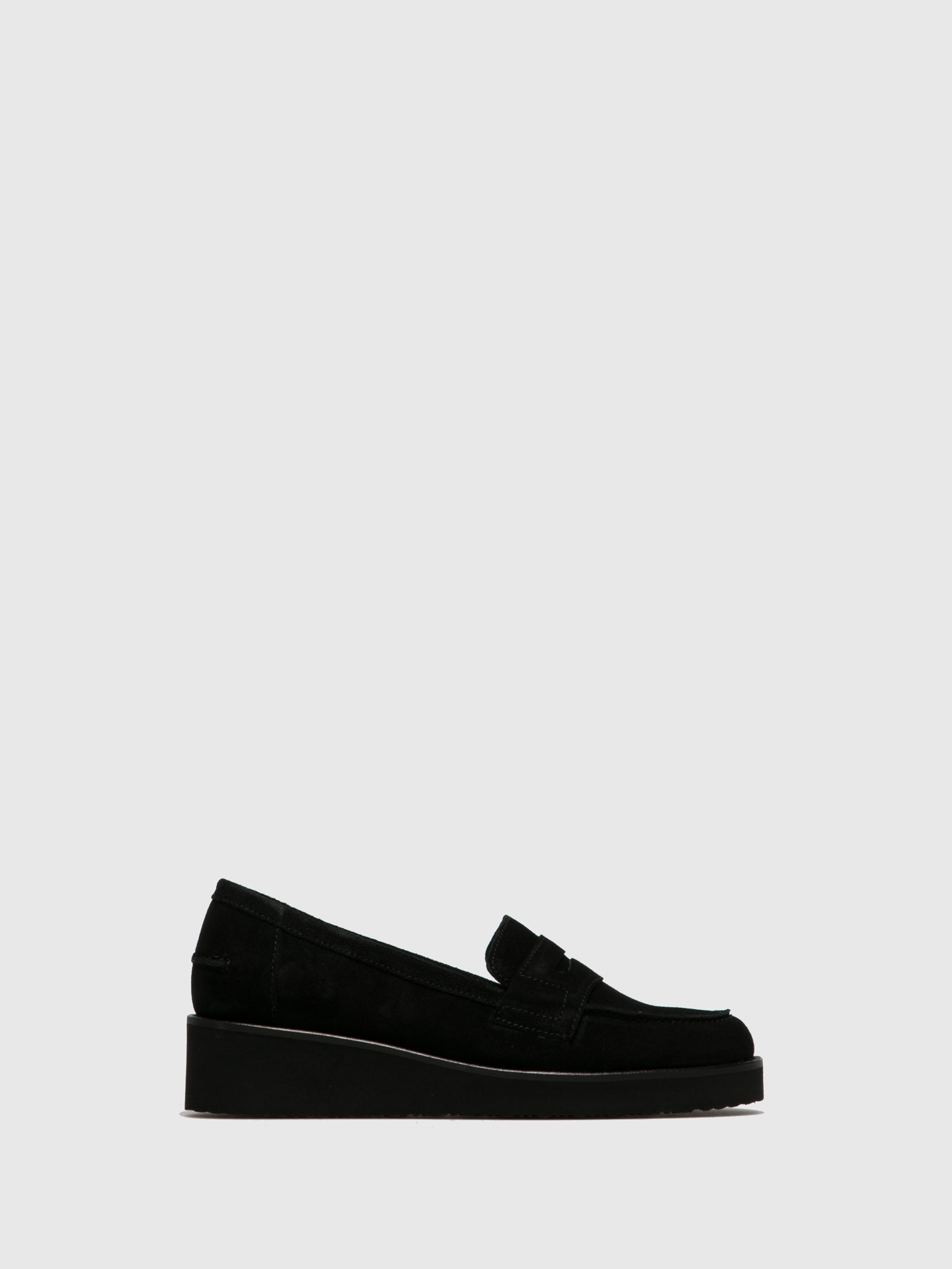 PintoDiBlu Black Suede Mocassins Shoes