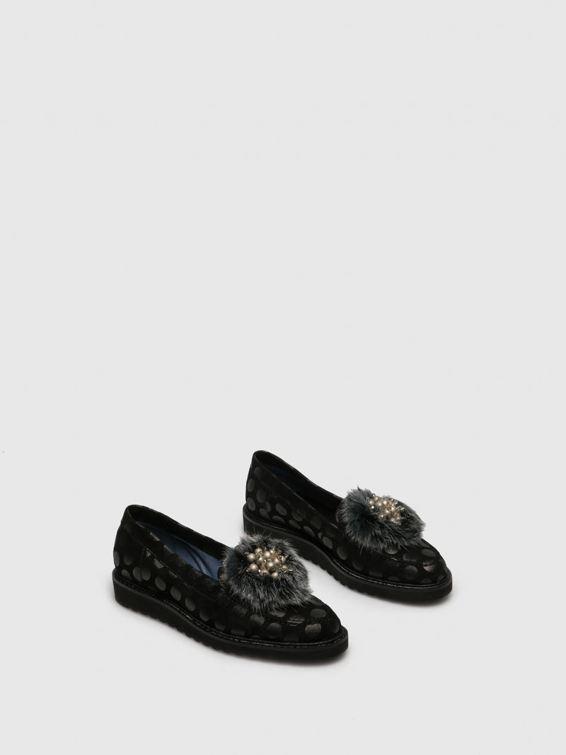 PintoDiBlu Black Mocassins Shoes