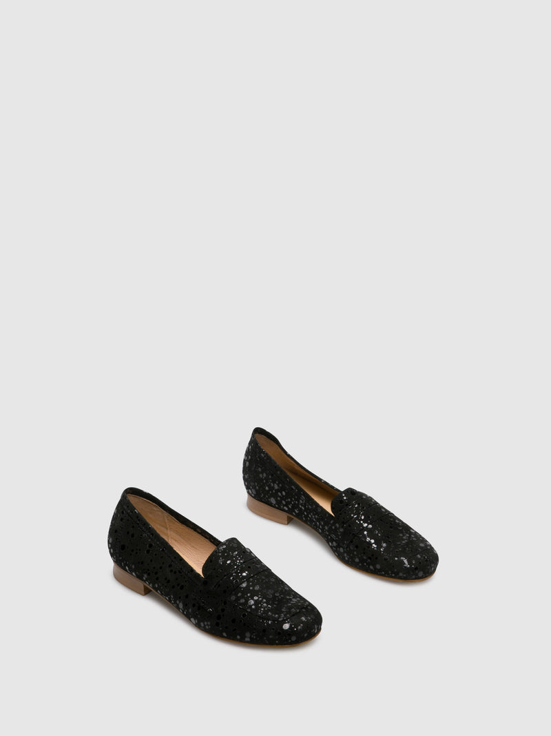 PintoDiBlu Black Loafers Shoes