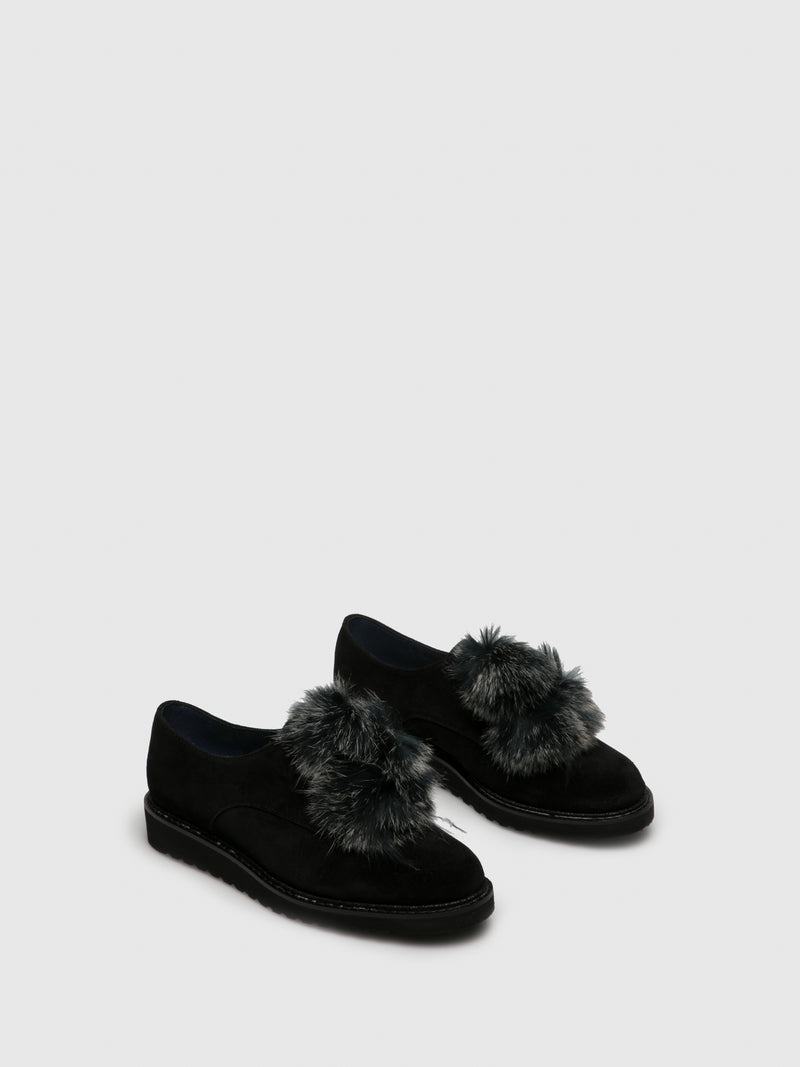 PintoDiBlu Black Suede Lace-up Shoes