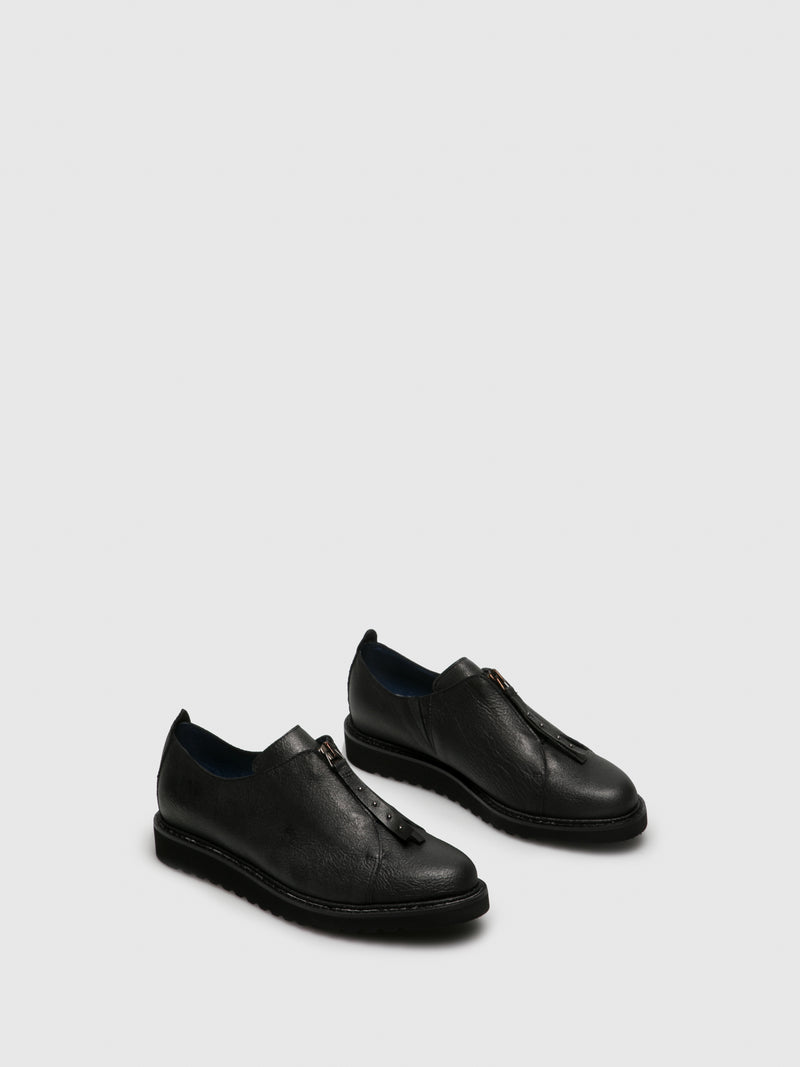 PintoDiBlu Black Round Toe Shoes