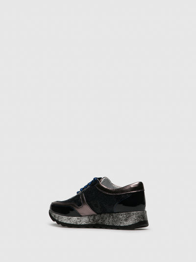 PintoDiBlu Black Lace-up Trainers