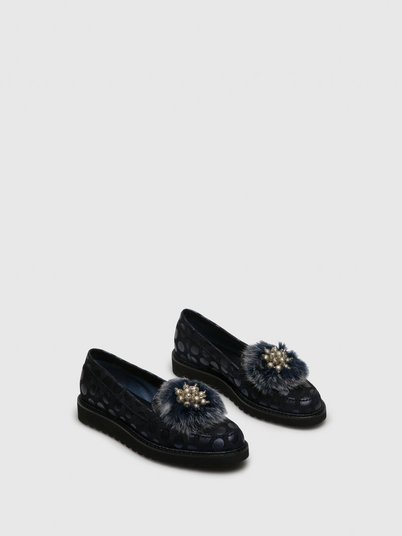 PintoDiBlu Navy Mocassins Shoes