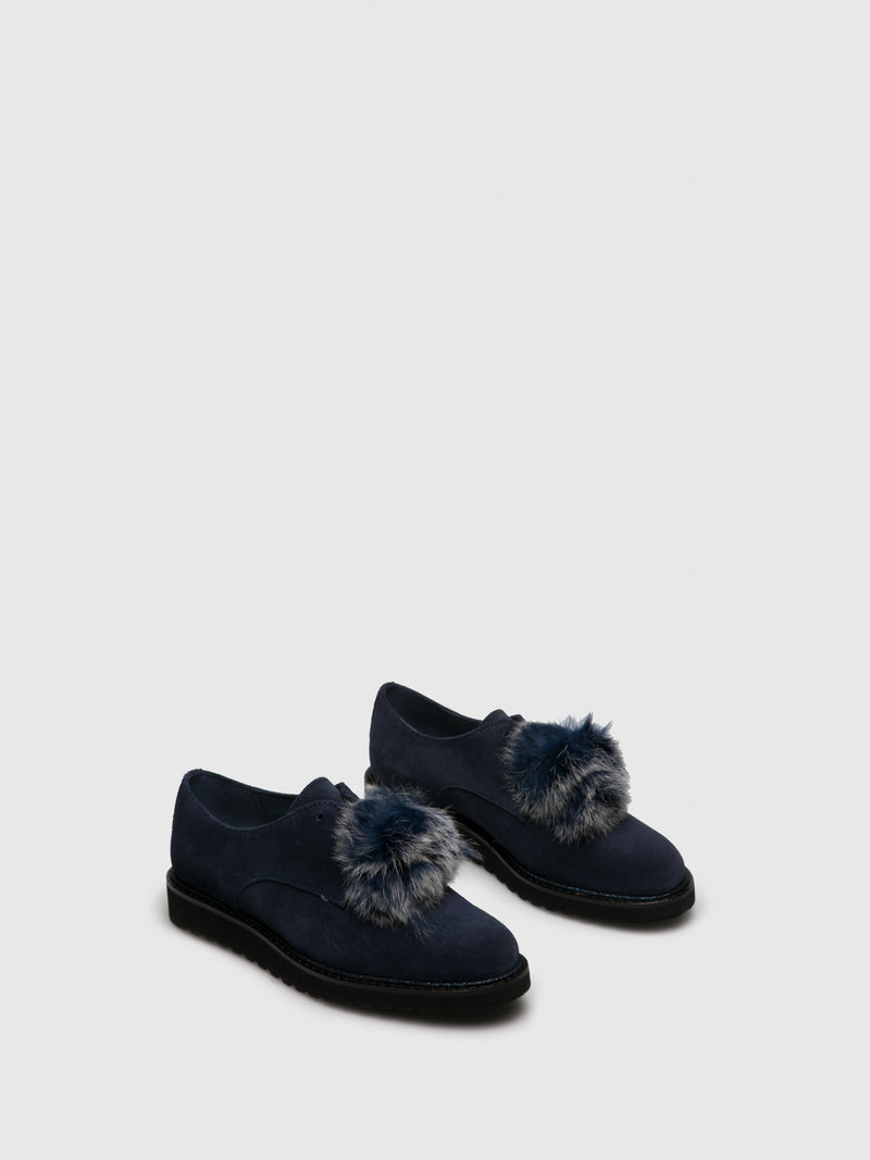 PintoDiBlu Navy Suede Lace-up Shoes