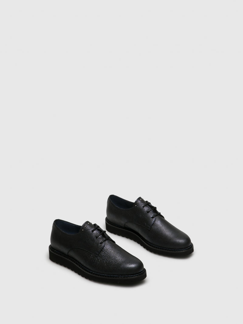 PintoDiBlu Navy Lace-up Shoes