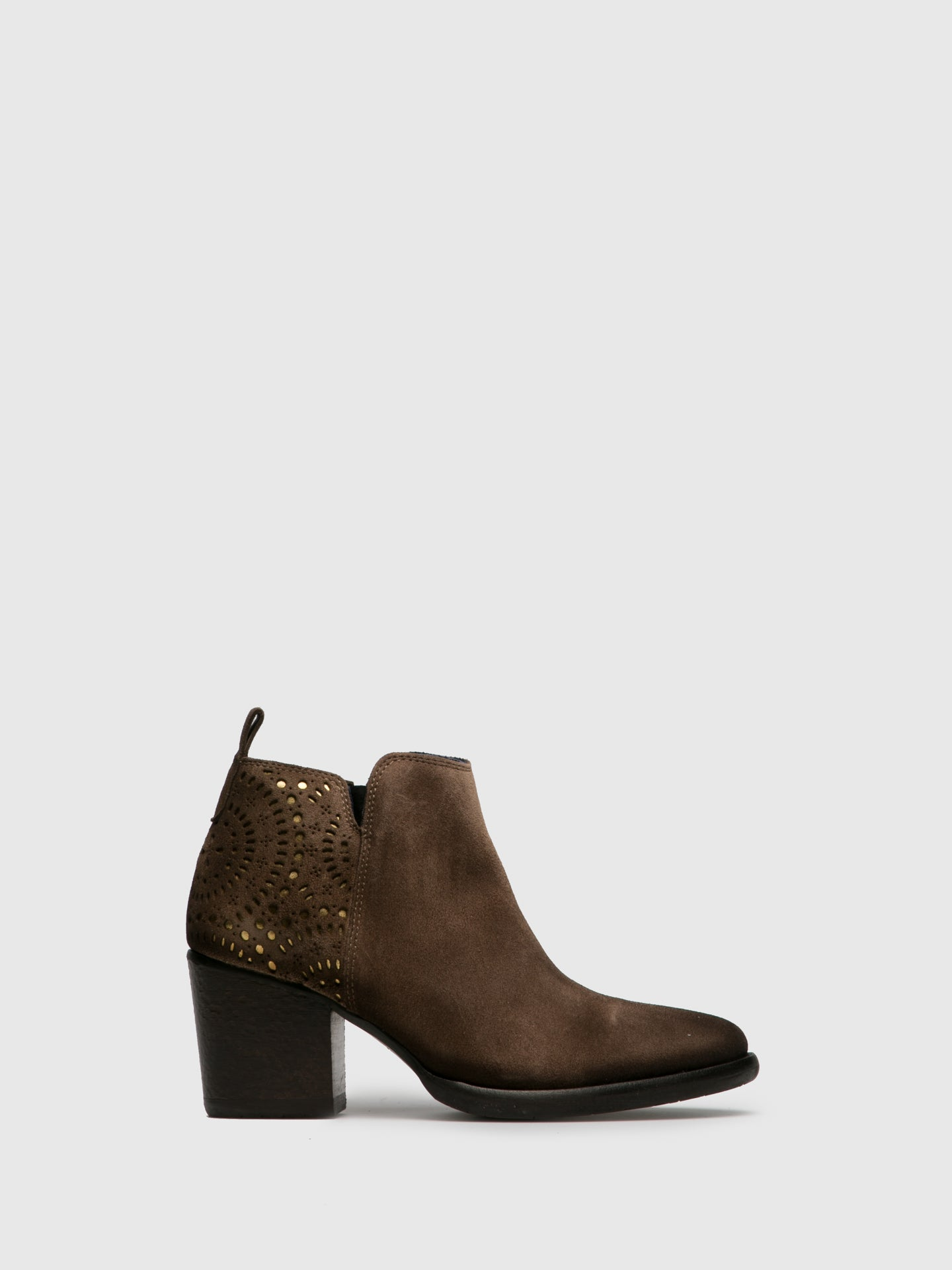 PintoDiBlu Tan Zip Up Ankle Boots