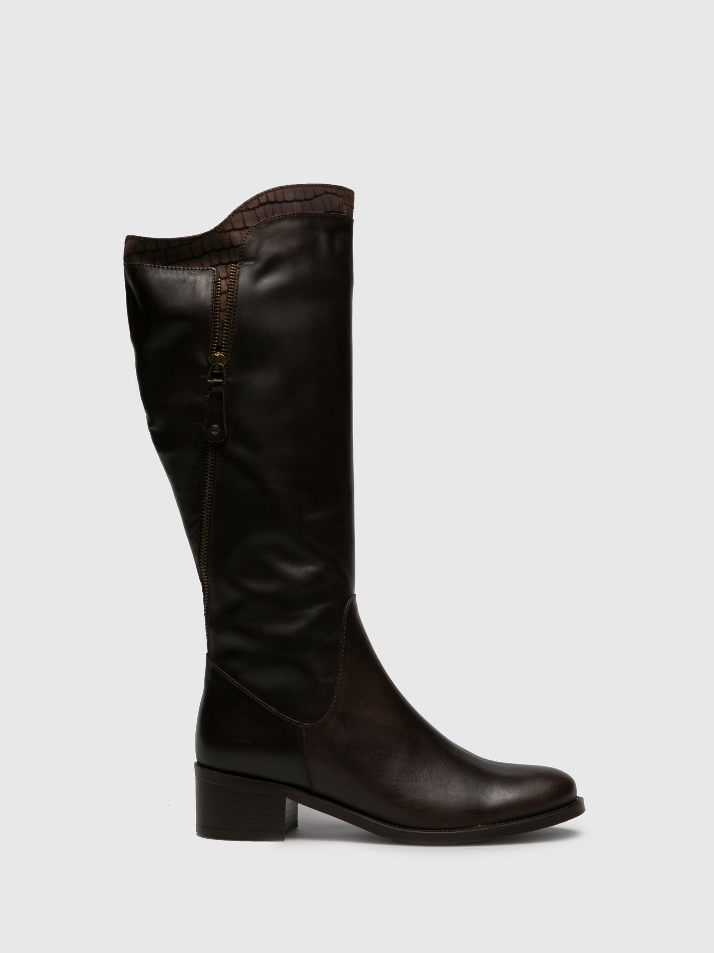 PintoDiBlu Brown Leather Knee-High Boots