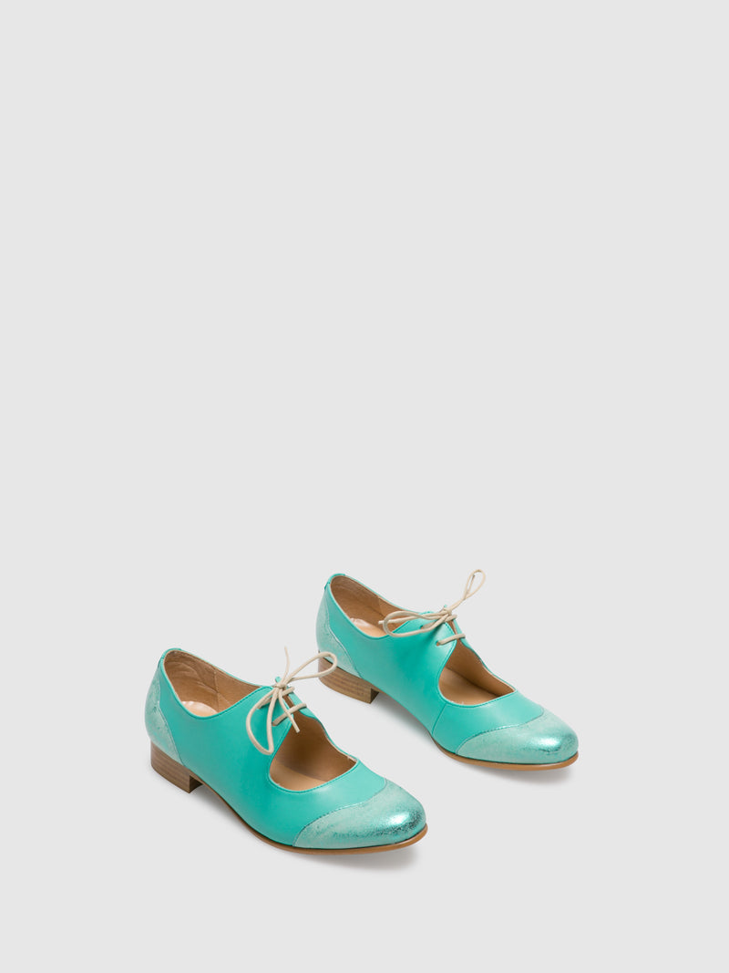 PintoDiBlu Aquamarine Lace-up Shoes