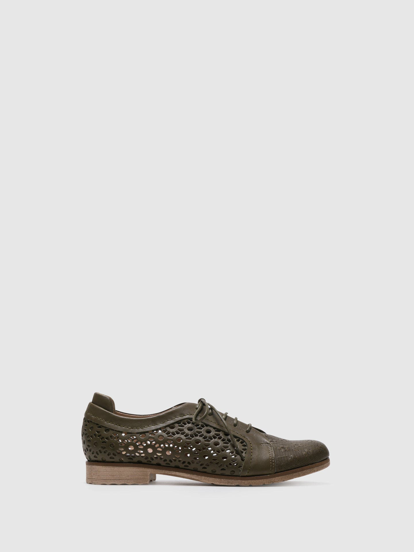 PintoDiBlu Khaki Leather Lace-up Shoes