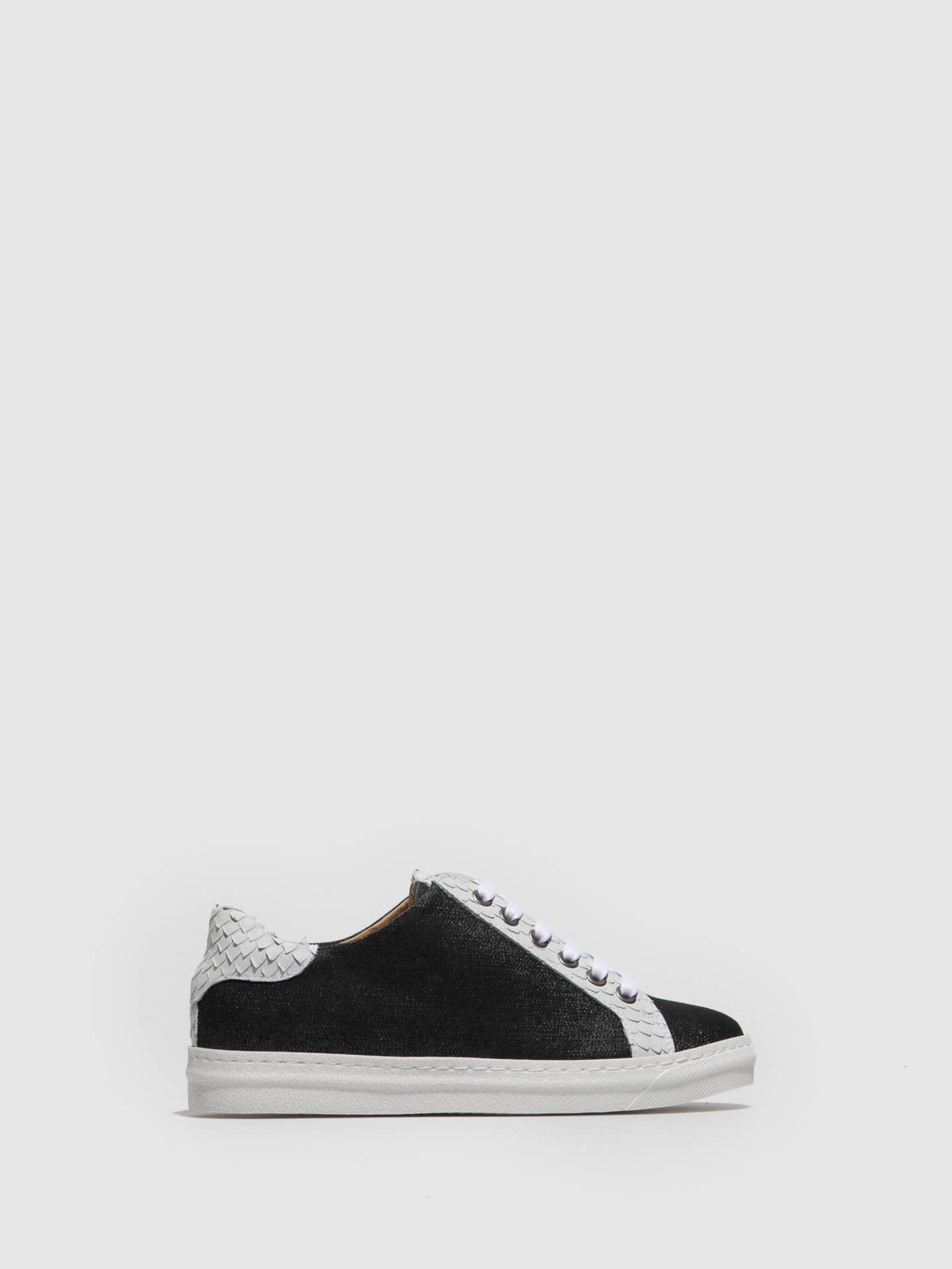 PintoDiBlu Black White Lace-up Trainers