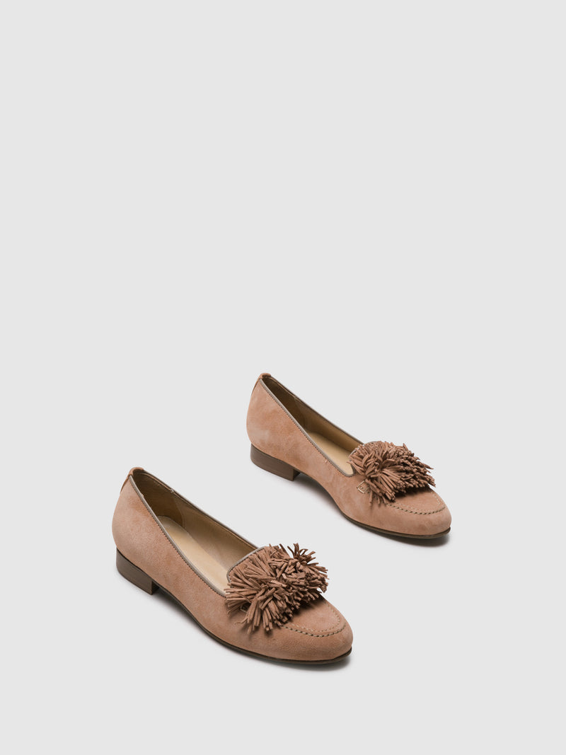 PintoDiBlu Pink Suede Loafers Shoes