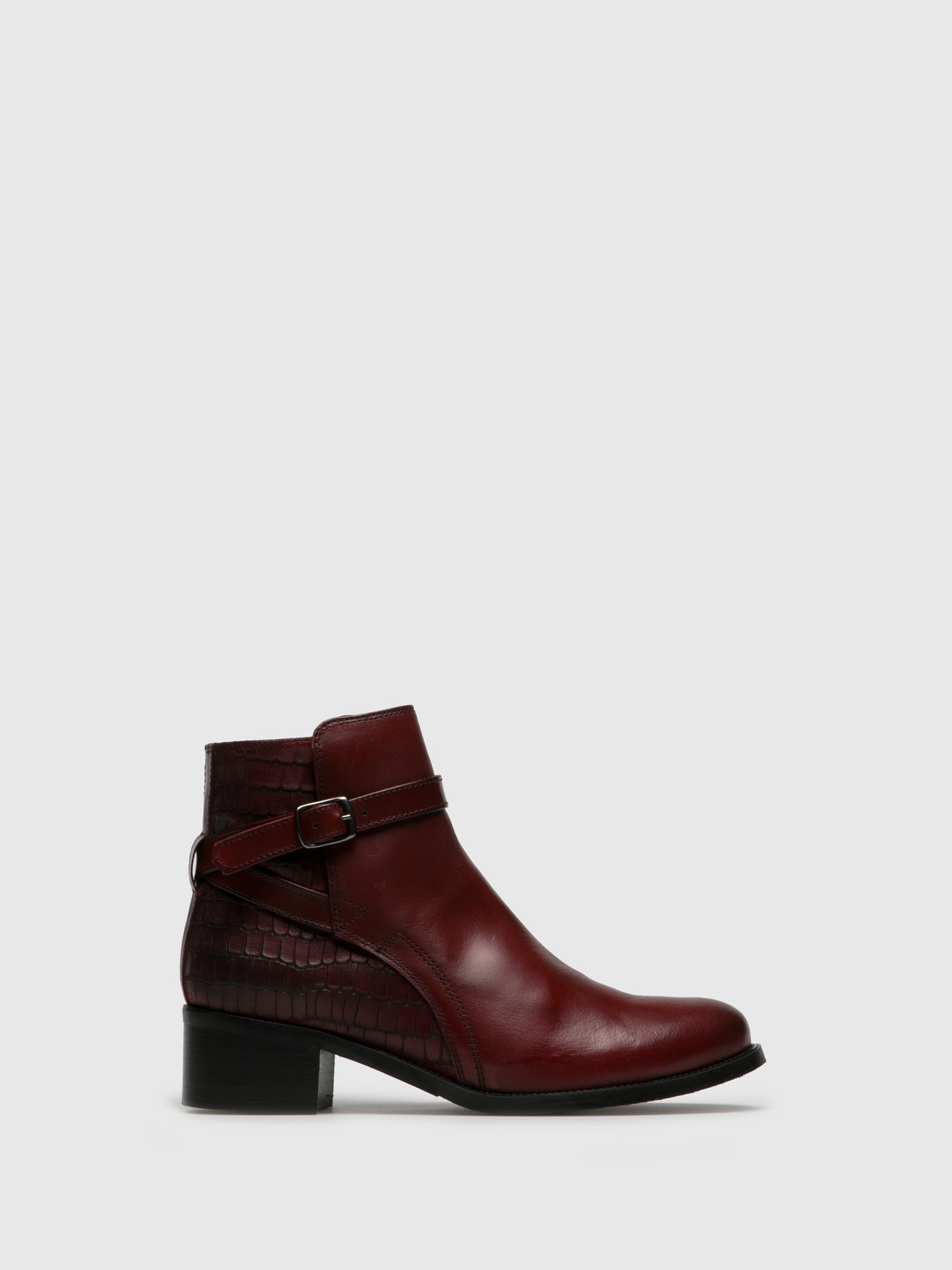 PintoDiBlu DarkRed Zip Up Ankle Boots