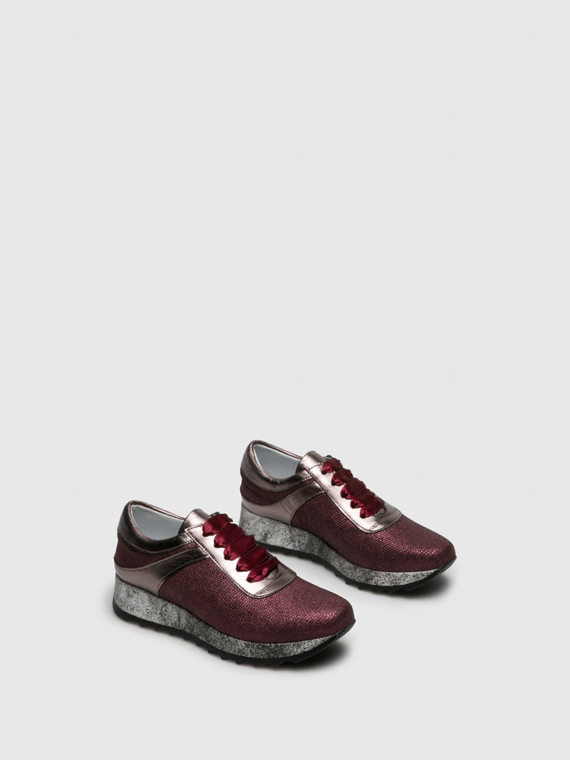 PintoDiBlu DarkRed Lace-up Trainers