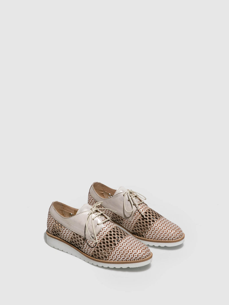 PintoDiBlu Beige Lace-up Shoes
