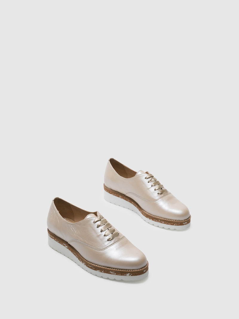 PintoDiBlu Beige Derby Shoes