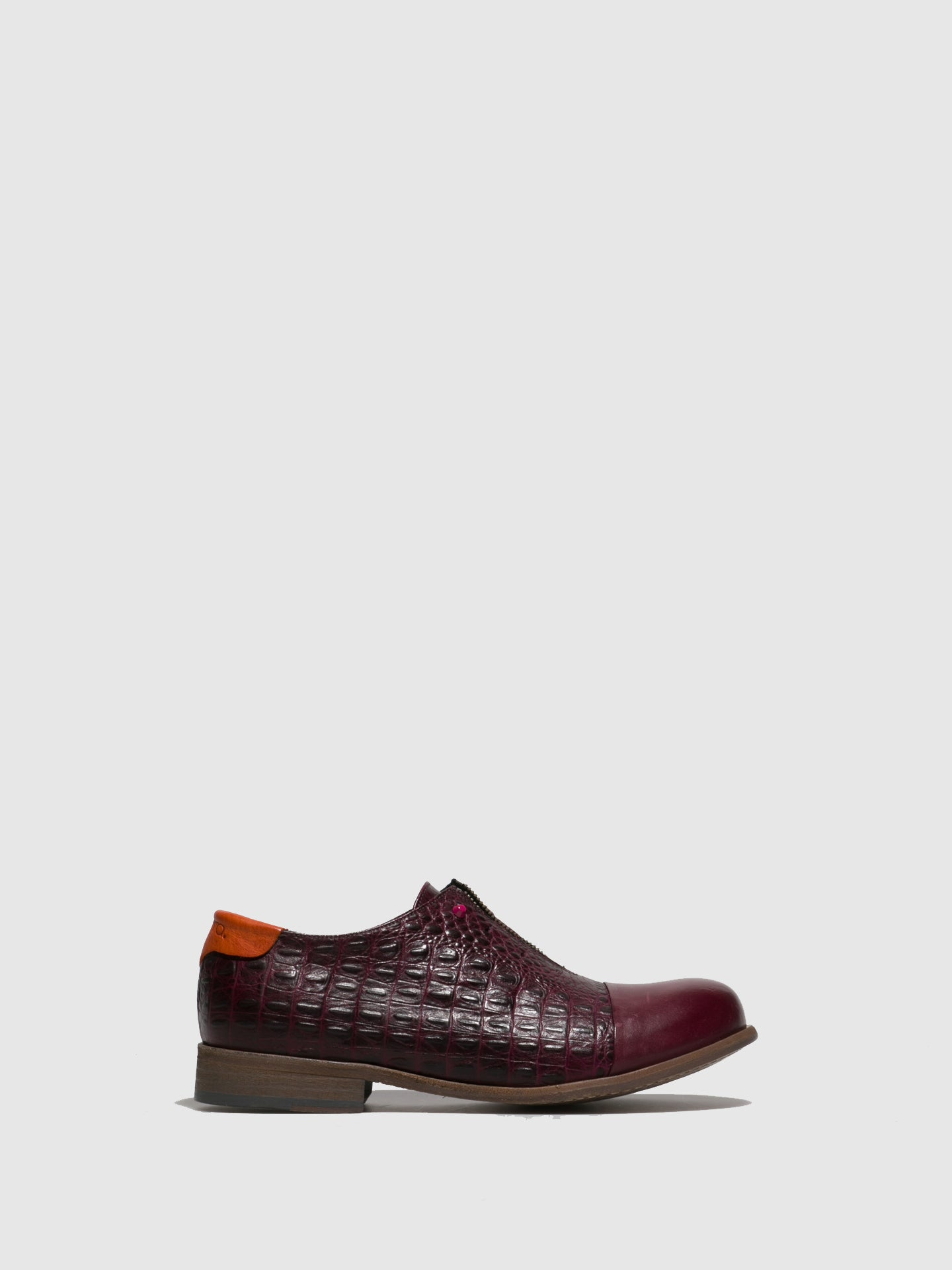 Pintta Shoes DarkRed Metallic Detail Loafers