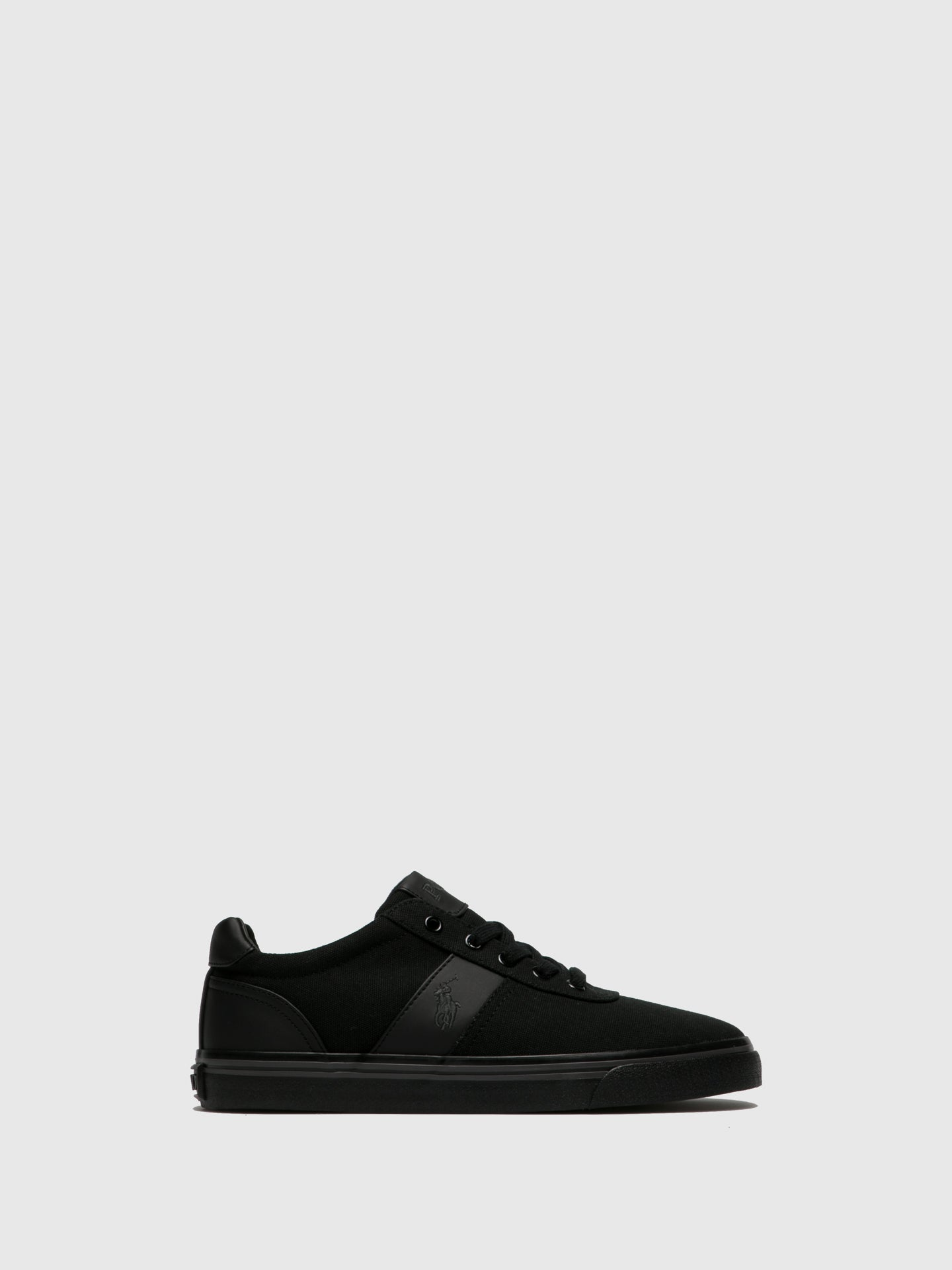 RALPH LAUREN Black Lace-up Trainers