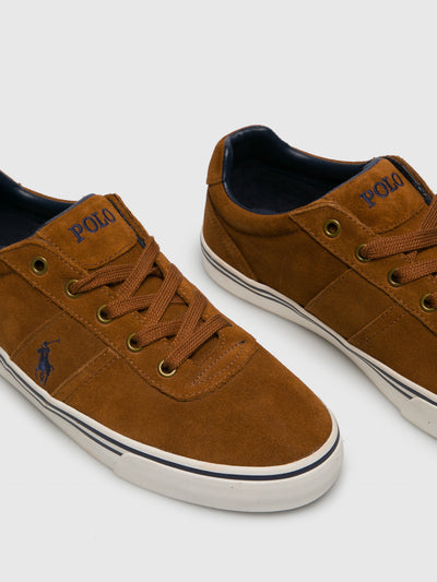 Ralph Lauren Camel Lace-up Trainers