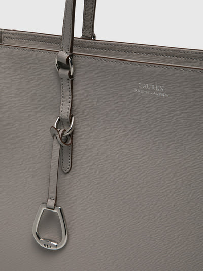 RALPH LAUREN Gray Leather Shoulder Bag