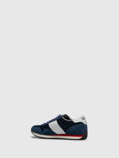 RALPH LAUREN Blue White Lace-up Trainers