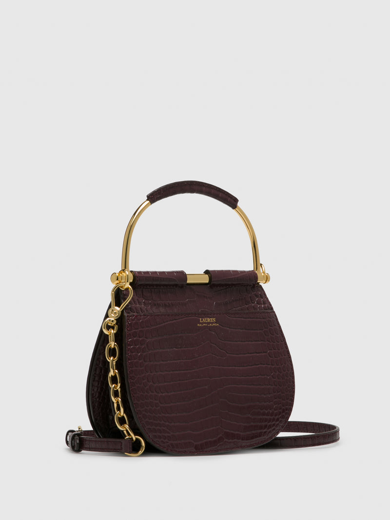 RALPH LAUREN DarkRed Shoulder Bag