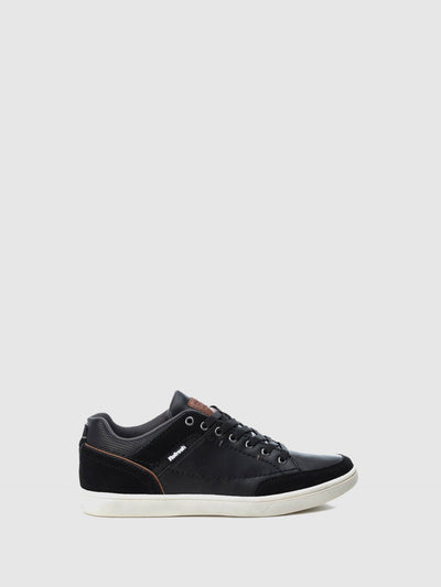 Refresh Black Lace-up Trainers